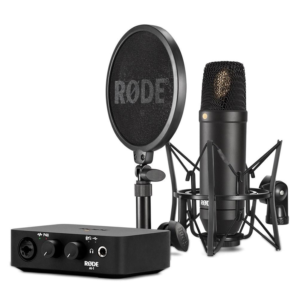 rode nt1 1 cardioid condenser microphone w ai1 audio interface smr shock mount condenser. Black Bedroom Furniture Sets. Home Design Ideas