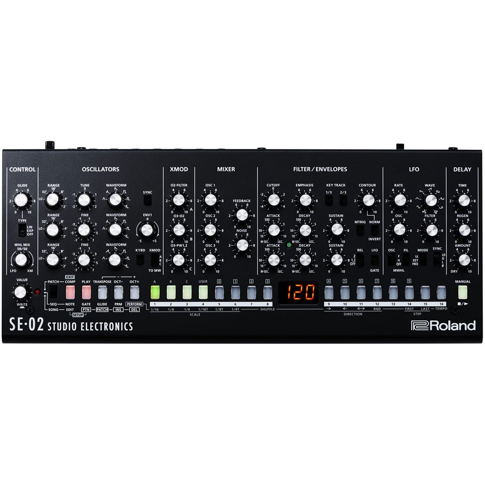 Roland Se02 Analogue Synth Module Designed By Studio Electronics The Filter Circuit For Scratch And Rumble Noise Electronic