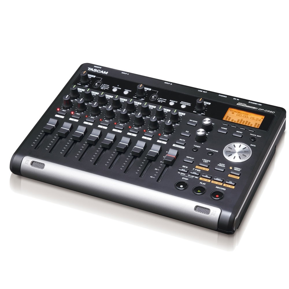 tascam dp03sd portable 8 track digital sd recorder