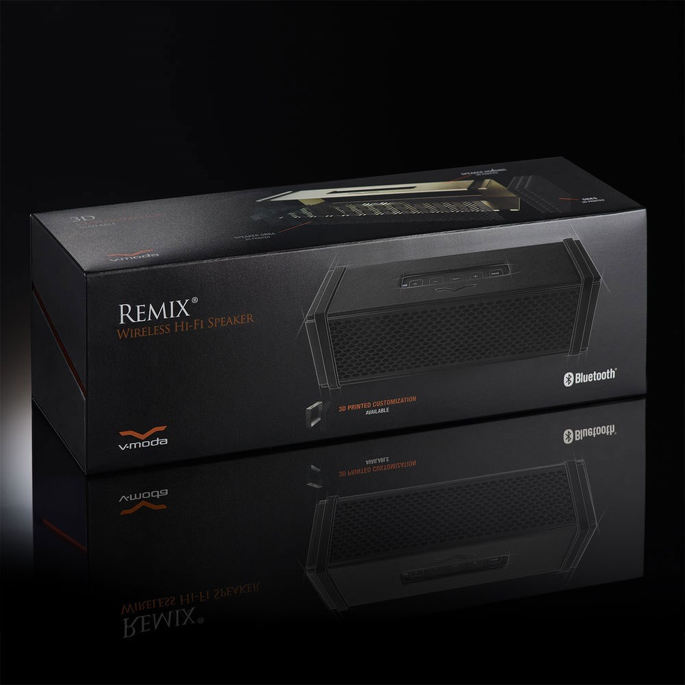 V-Moda Remix Portable Bluetooth Speaker W/ Built-In Headphone Amp (Black)