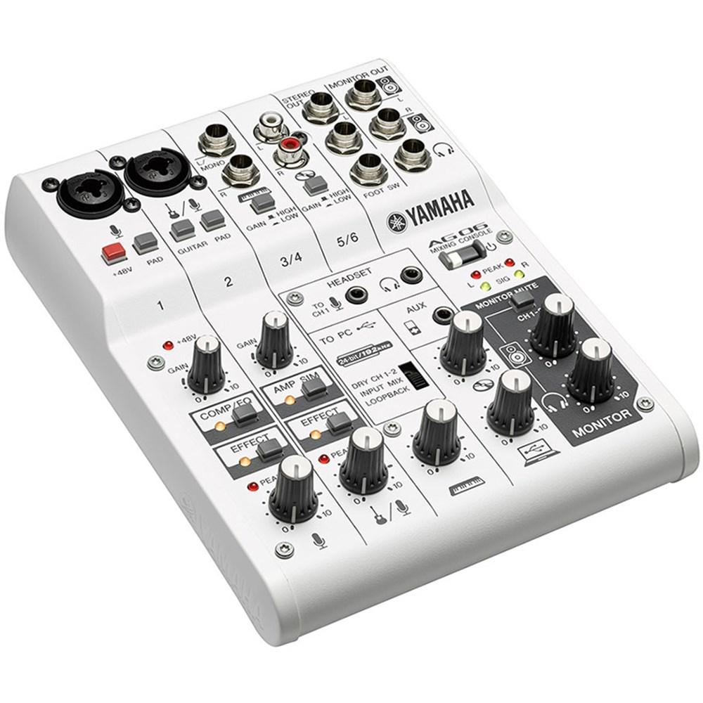 Yamaha Ag06 Multipurpose 6 Ch Mixer W Usb Audio Interface Analogue Mixers Store Dj