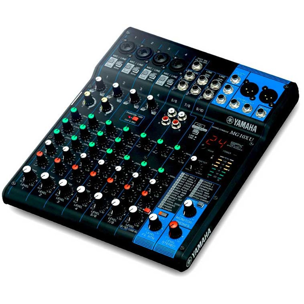 Yamaha MG10XU 10 Input Mixer w/ FX & USB Audio Interface ...