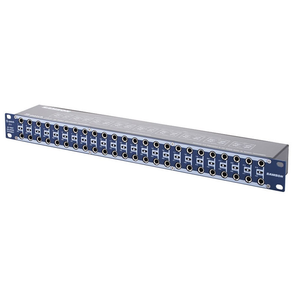 Samson S Patch Plus 48 Point Patch Bay w/ Front Switching
